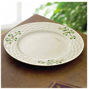 Belleek Plate - Shamrock Side