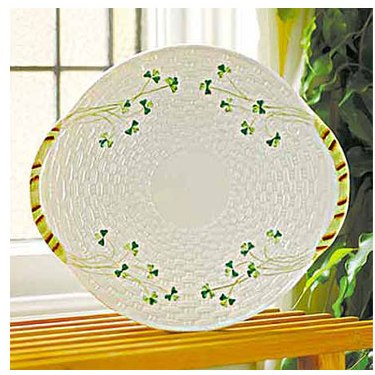 Belleek Plate - Shamrock Bread