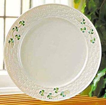 Belleek Plate - Shamrock Dinner