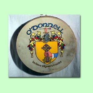 Tim Cordell Bodhran - Hand Painted Coat of Arms