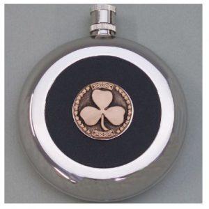 Emmet Stainless Steel Shamrock Flask