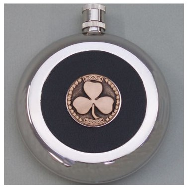 Emmet Stainless Steel Shamrock Flask