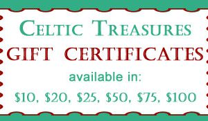 Celtic Treasures Gift Certificates