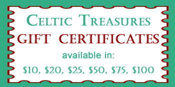 Celtic Treasures Gift Certificates