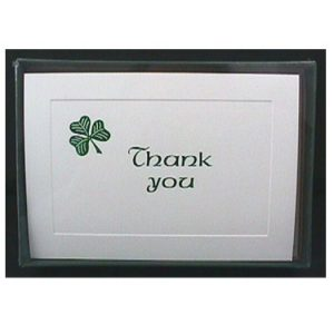 Thank You Cards - Shamrock