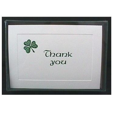 Thank You Cards - Shamrock