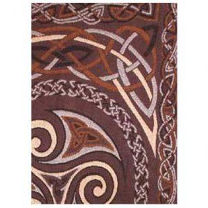 Keltic Throw Triskel Brown