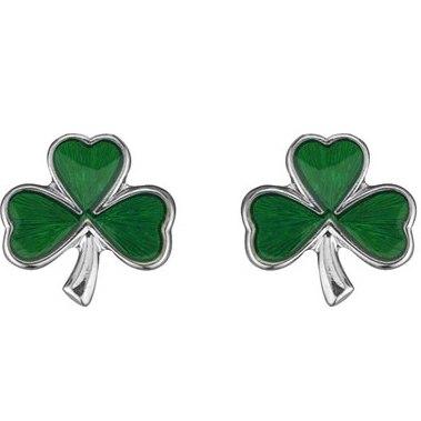 Solvar Shamrock Stud Earrings