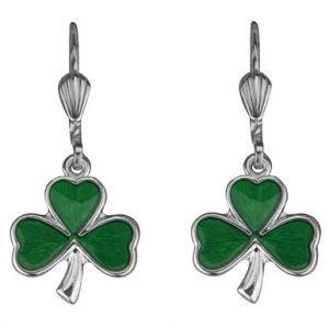 Solvar Shamrock Drop Earrings #3286