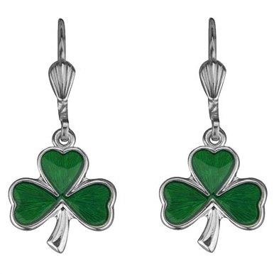 Solvar Shamrock Drop Earrings #3286