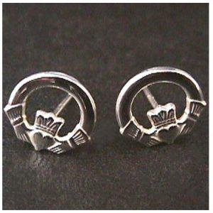 Solvar Claddagh Stud Earrings #3325