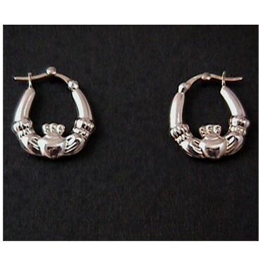 Solvar Claddagh Hoop Earrings #3526